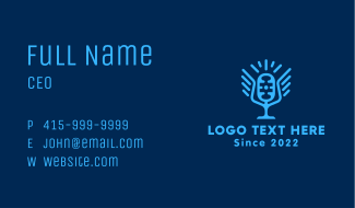 Blue Winged Mic  Business Card