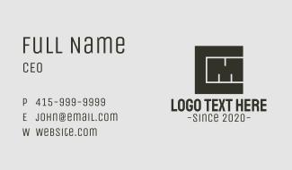 C & M Monogram Blocks Business Card