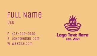 Purple Baby Bird  Business Card