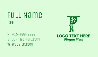 Green Eco Curtain Business Card