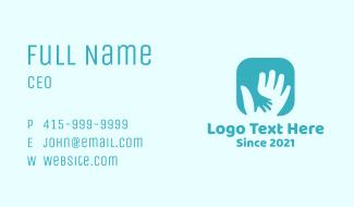 Parent Child Hand Business Card