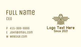 Geometric Hawk Eagle Business Card