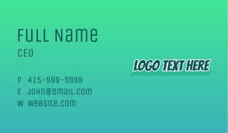 Street Art Wordmark  Business Card
