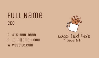 Espresso Coffee Shop Business Card