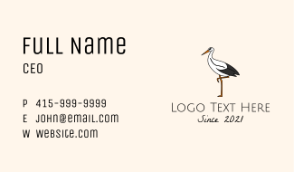 Wild Egret Bird Business Card