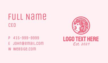 Pink Beauty Emblem  Business Card