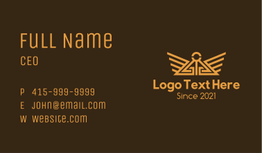 Golden Temple Wings Business Card
