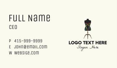Multicolor Fashion Mannequin  Business Card