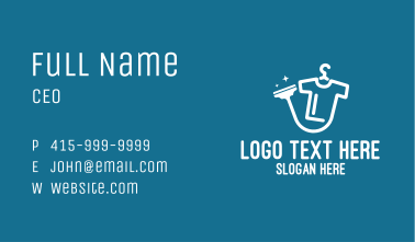 Dry Cleaning Shop Business Card
