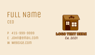Little Coffee Shop Business Card