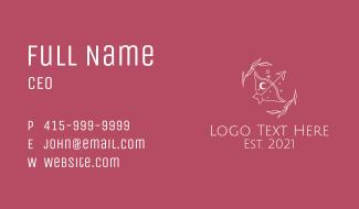 Sagittarius Zodiac Astrology Business Card