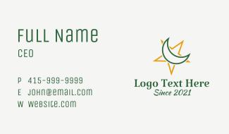 Moon Star Islamic Symbol Business Card