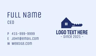 Blue Safe House Key Business Card
