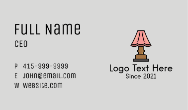 Classic Lampshade  Business Card