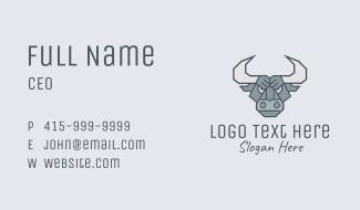 Angry Strong Buffalo Business Card