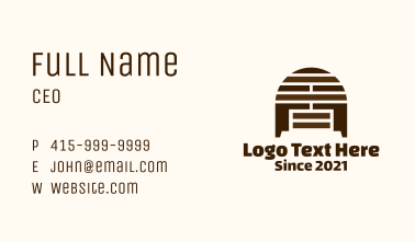 Wooden Letter A Cabinet Business Card