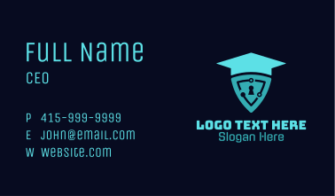 Academic Cycle Shield Business Card