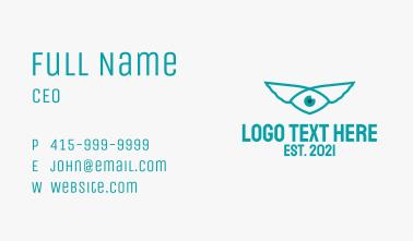 Green Wing Eye Business Card