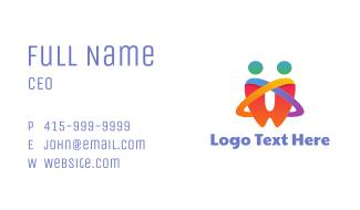 Rainbow Tooth Couple  Business Card