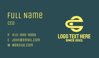 O & E Monogram Business Card