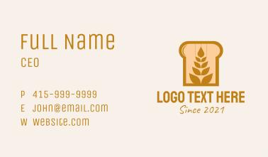 Wheat Bread Baker Business Card