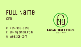 Eco Security Lock  Business Card