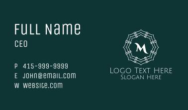 Seashell Lettermark Business Card