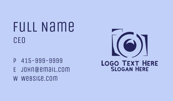 camera shop - Violet Film Camera Business card horizontal design