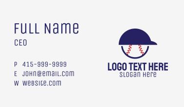 Baseball Player Helmet  Business Card