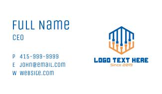 Abstract DJ Cords Hexagon Business Card