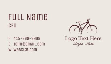 Minimalist Mountain Bike Business Card