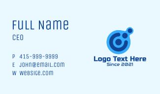 Digital Tech Letter C Business Card