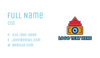 Geometric Digital Camera Business Card