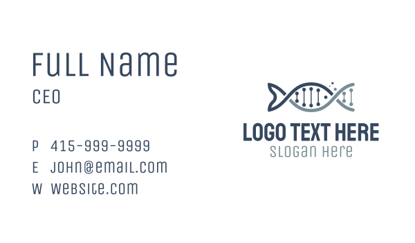 genetic - Fish DNA Business card horizontal design
