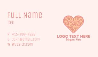 Heart Ornament Business Card