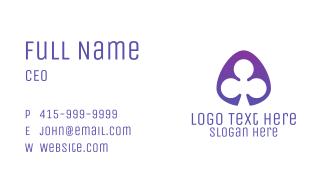 Violet Clover Leaf Badge Business Card