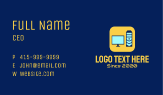 Simple Computer Hardware Business Card