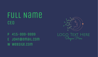 Moon Woman Nature Business Card
