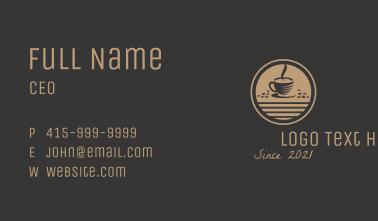 Coffeehouse Espresso  Business Card