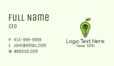 Avocado Light Bulb Business Card