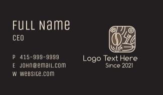 Eccentric Coffee Bean Badge Business Card