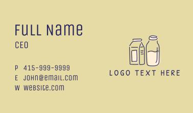 Dairy Milk Doodle  Business Card