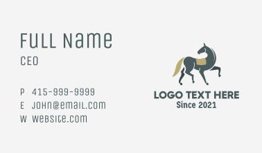 Medieval Prancing Horse Business Card