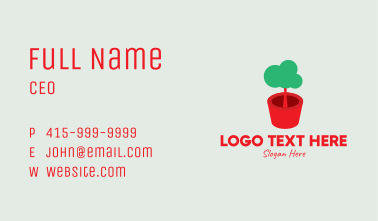 Cute Potted Plant  Business Card