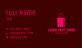 Travel Luggage Bookmark Business Card