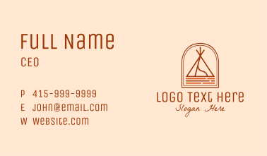 Camping Tent Site Business Card
