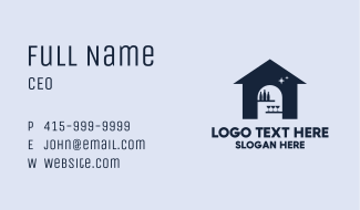 Blue Wine Clubhouse Business Card
