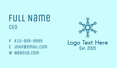 Line Art Winter Snowflake  Business Card
