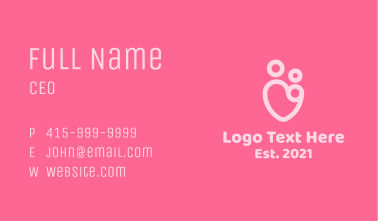 Parenting Heart Business Card