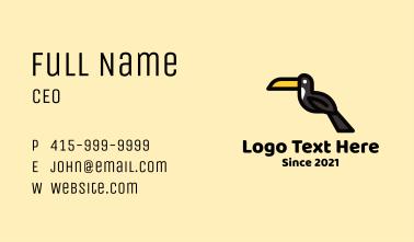 Perched Toucan Bird Business Card